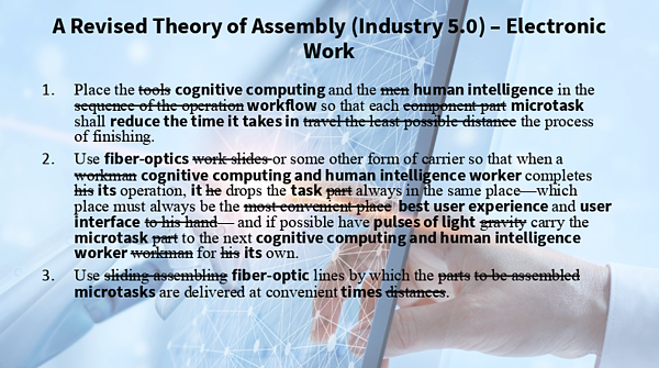 A revised theory of assembly (industry 5.0) - electronic work